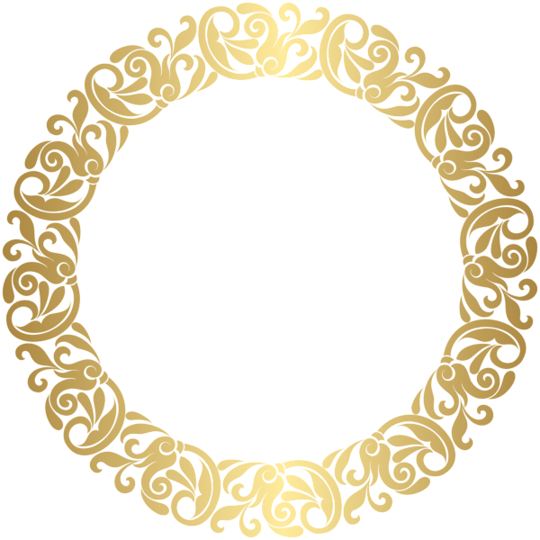 svg transparent stock Gold Round Border Frame PNG Clip Art