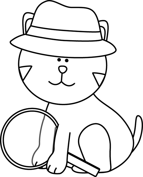 picture library download Hat clipart black and white. Detective clip art images