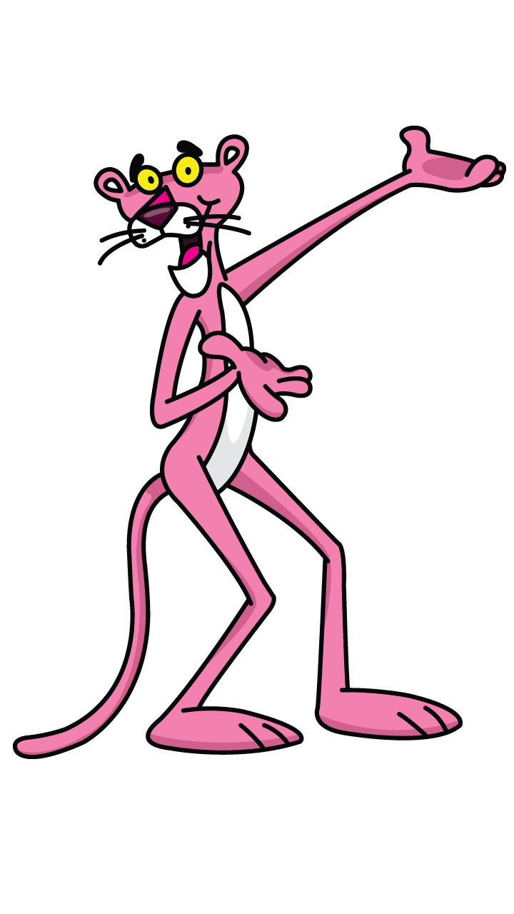 vector library download Pink Panther drawing tutorial
