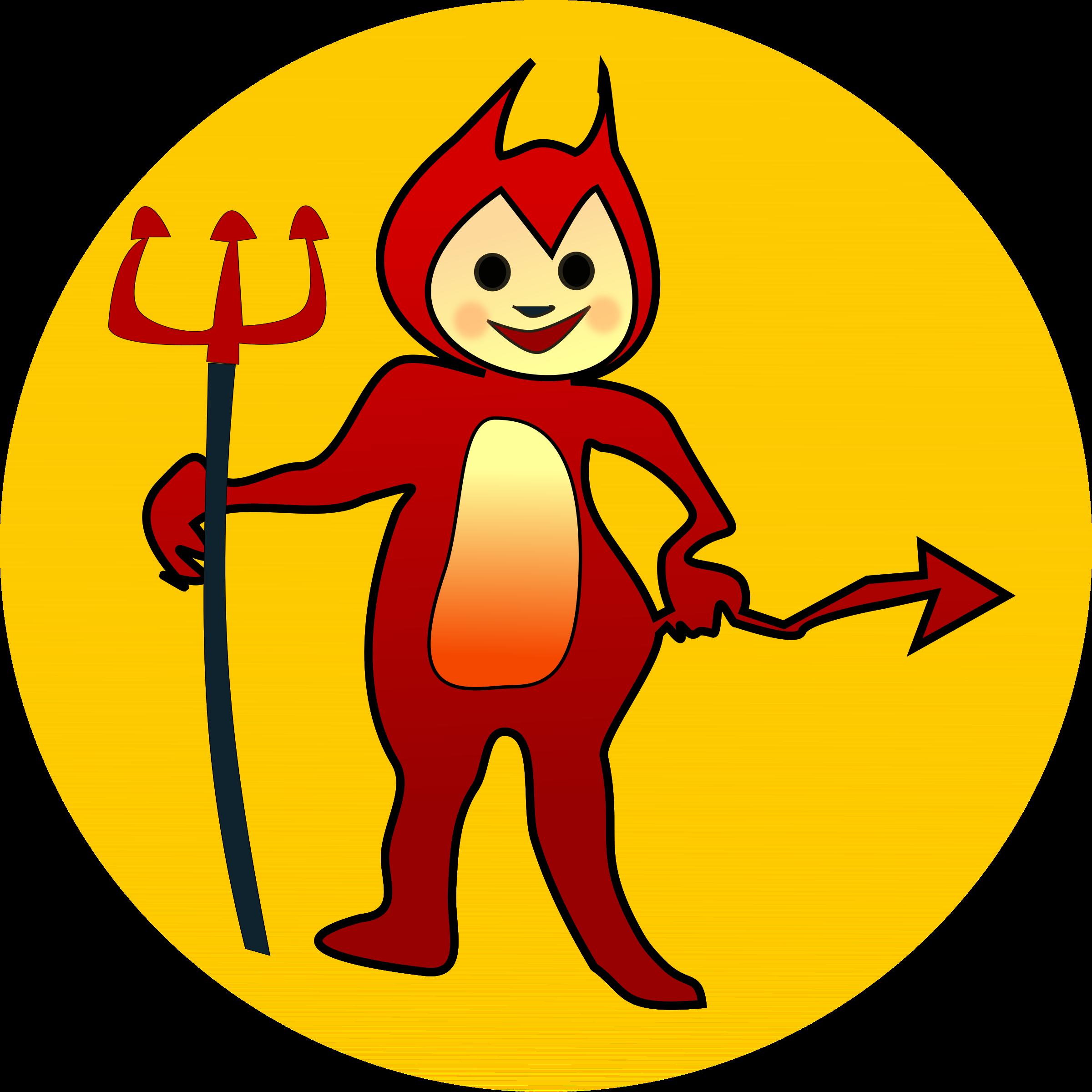 clip art freeuse download Devil clipart. Littel icon big image.
