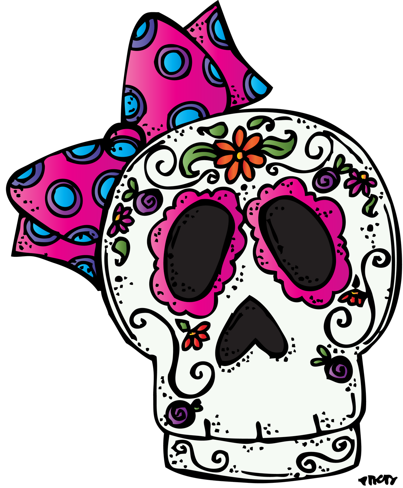 jpg freeuse download Melonheadz happy moldes pinterest. Dia de los muertos clipart.
