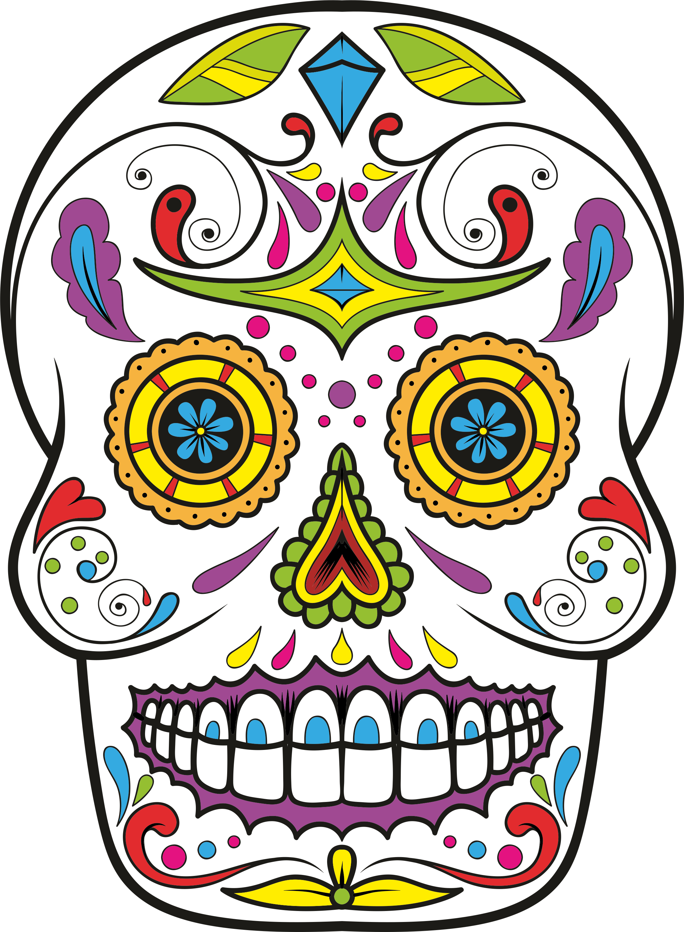 png stock Sugar skull clipart. Day of the dead