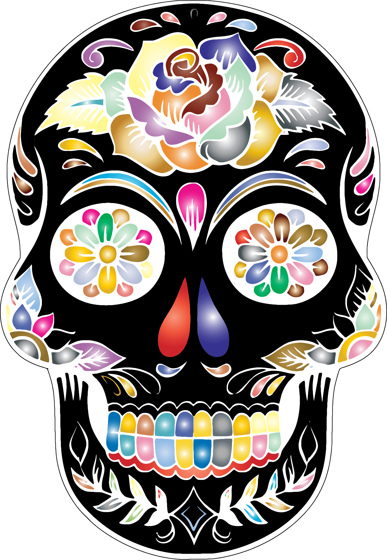 clip royalty free Sugar Skull Clipart at GetDrawings