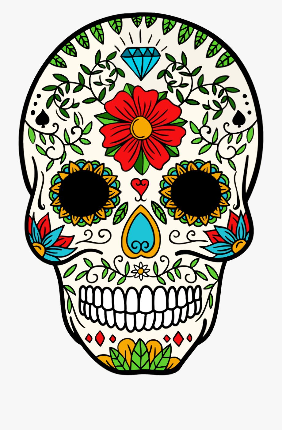 vector library download Big image png day. Sugar skull clipart