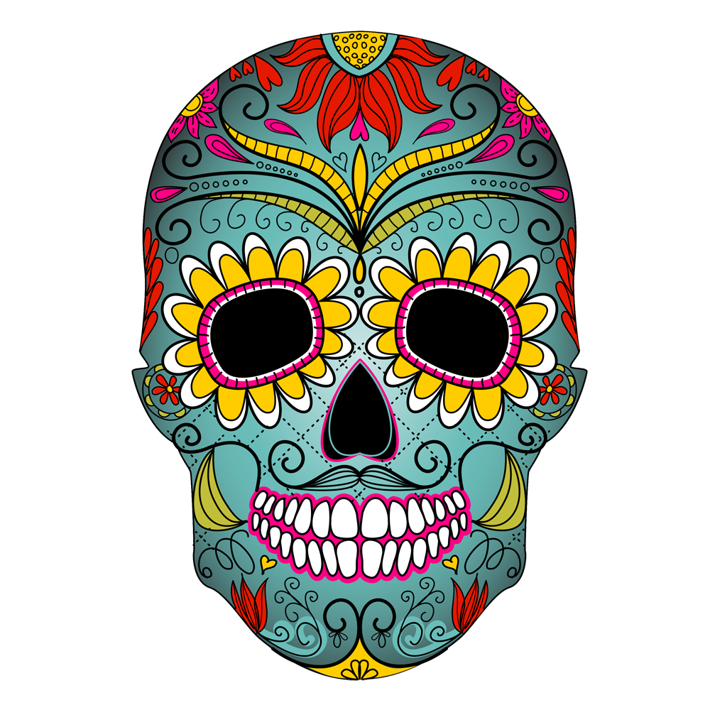 png freeuse Dia de los muertos clipart simple. The fine art of
