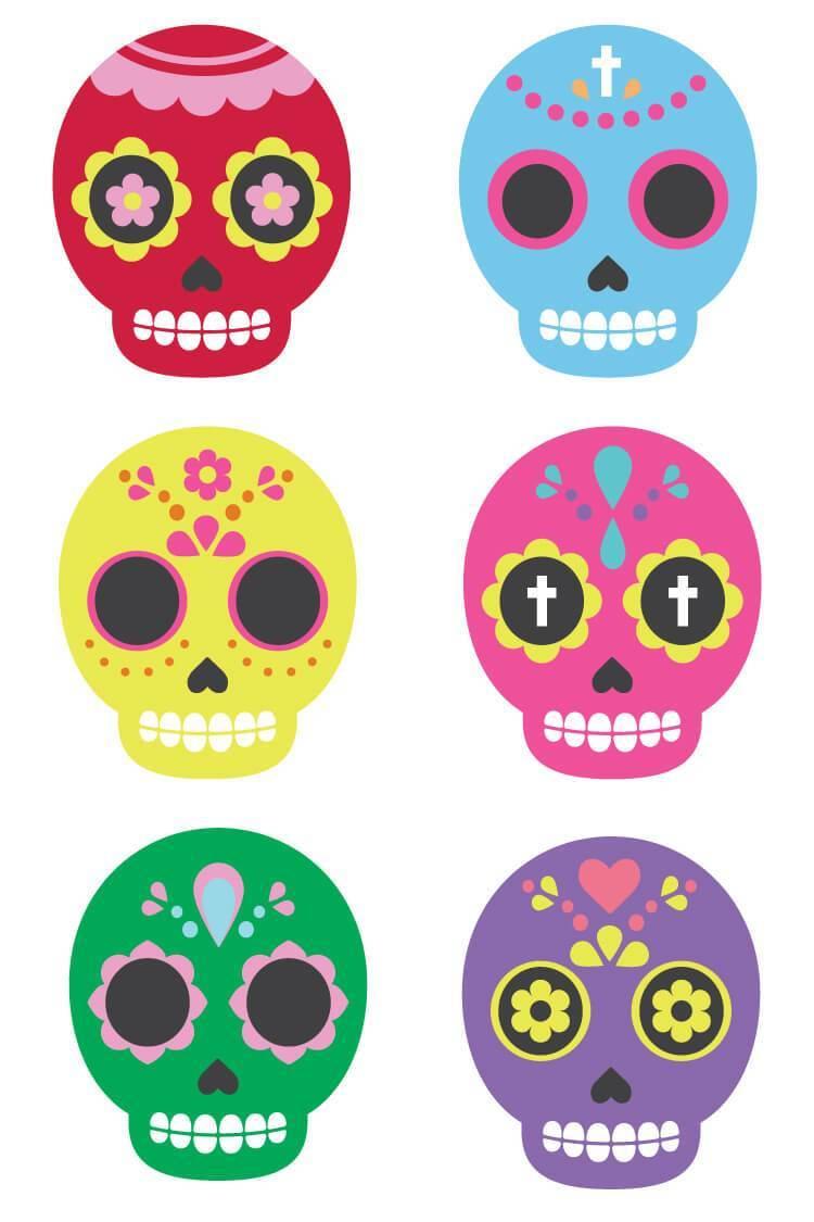 clipart free library Dia de los muertos clipart simple. Sugar skull clip art