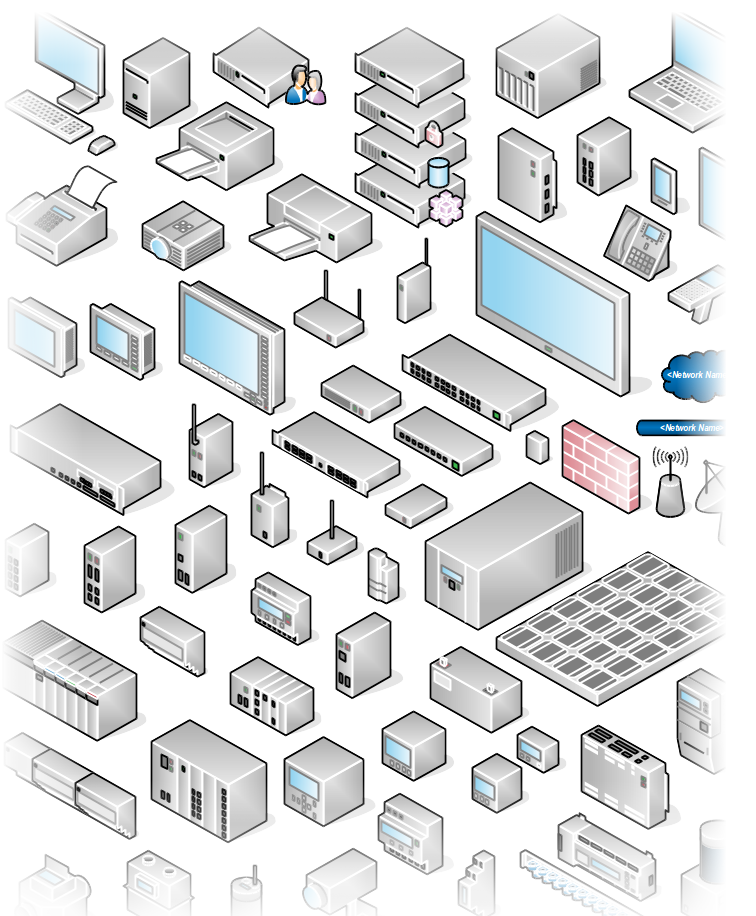 image free download network drawing isometric #100328710