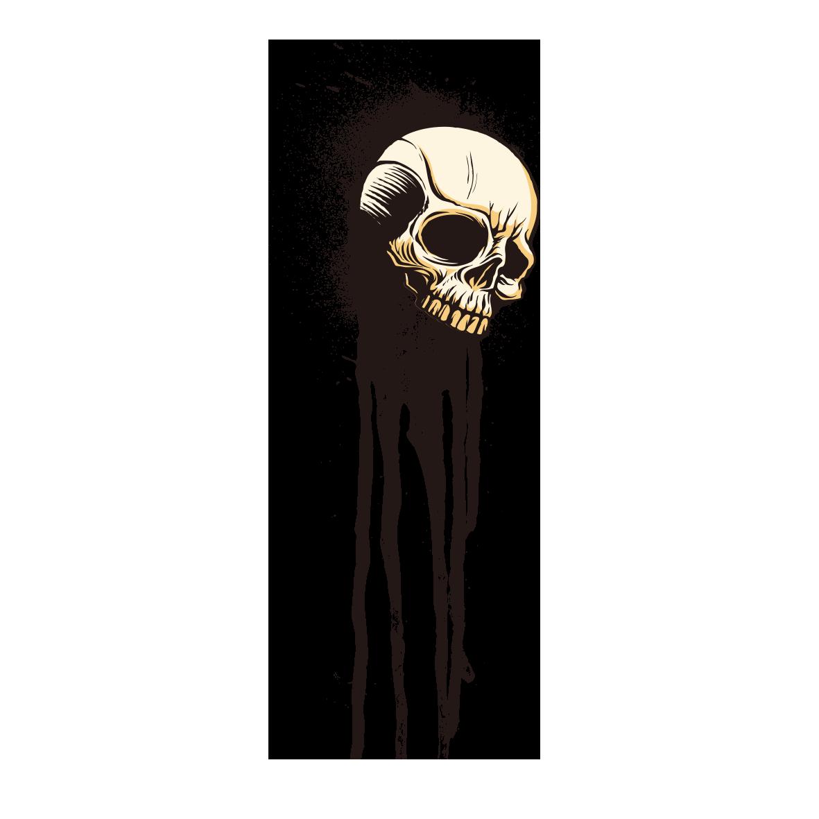 image royalty free library T shirt skull skeleton. Blindfold drawing ink