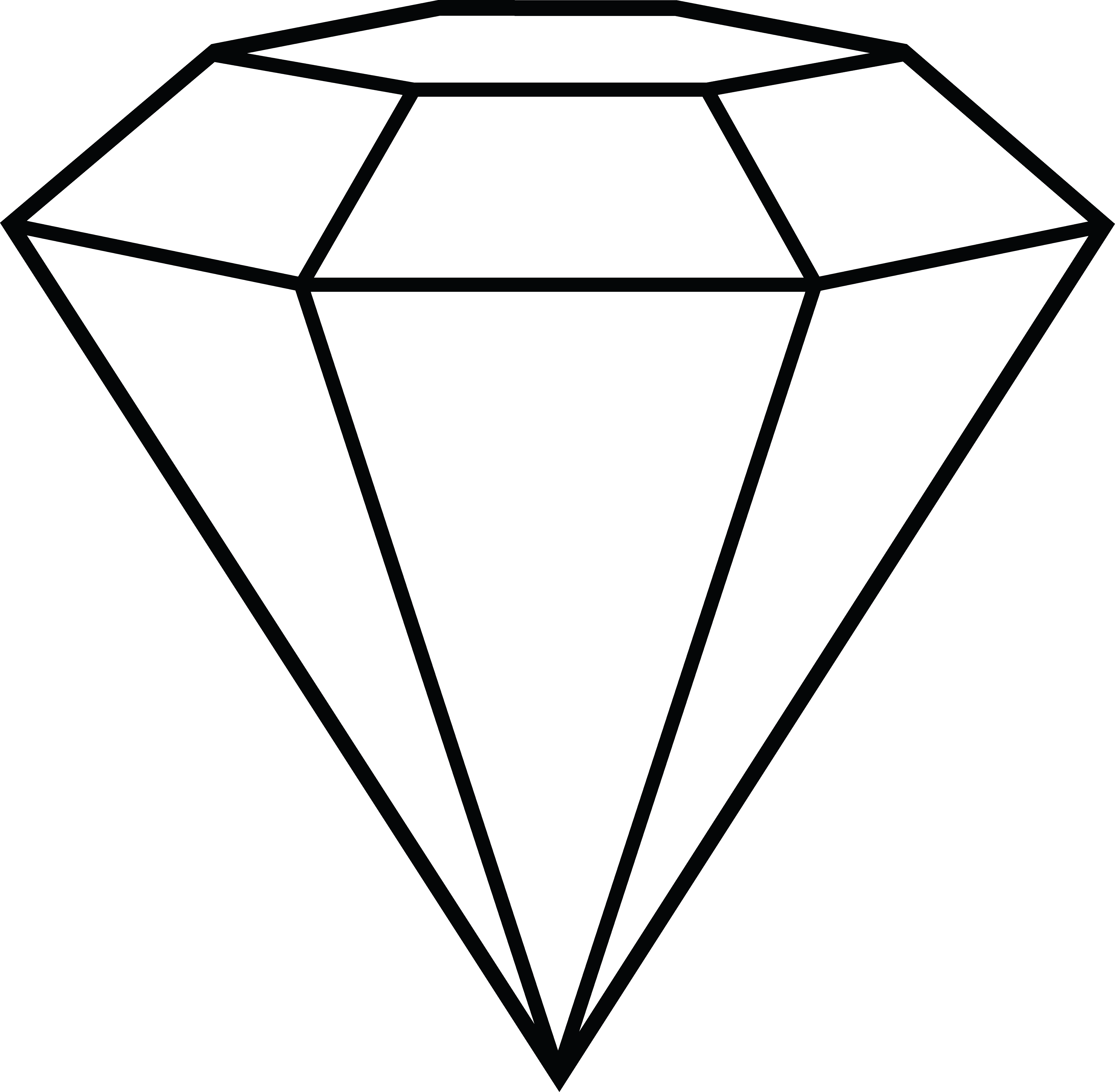 graphic library Lineart graphic design typography. Diamond clipart.