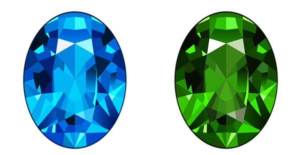 graphic free Transparent Blue and Green Diamonds PNG Clipart