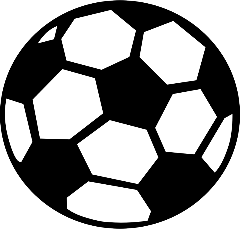 clipart stock Silhouette soccer ball at. Black and white sport clipart