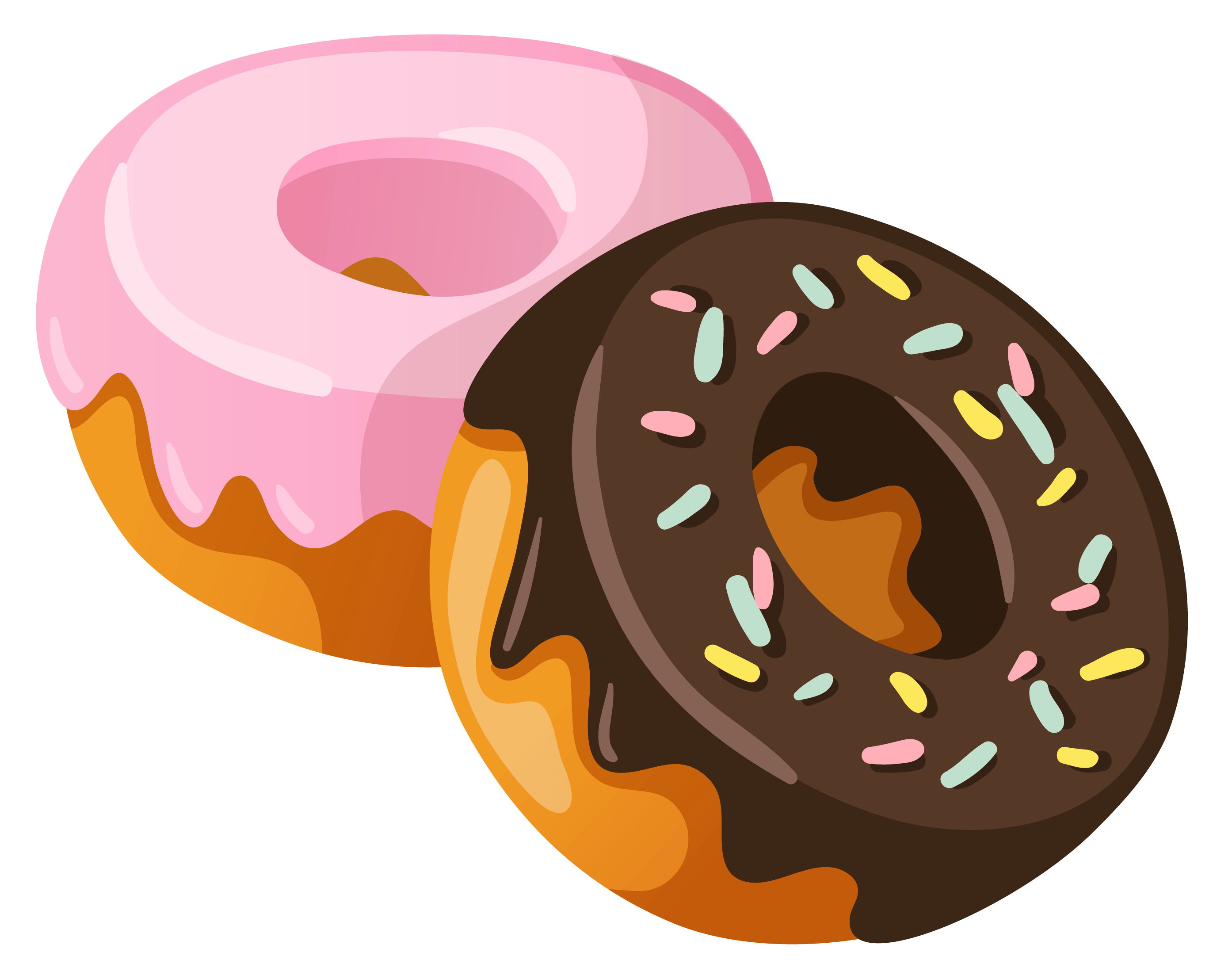 svg black and white download Donuts Clipart