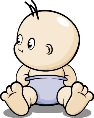 image freeuse stock Baby in diaper clipartix. Diapers clipart immature