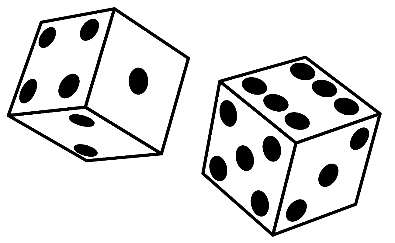 png royalty free stock Rolling Dice Clipart