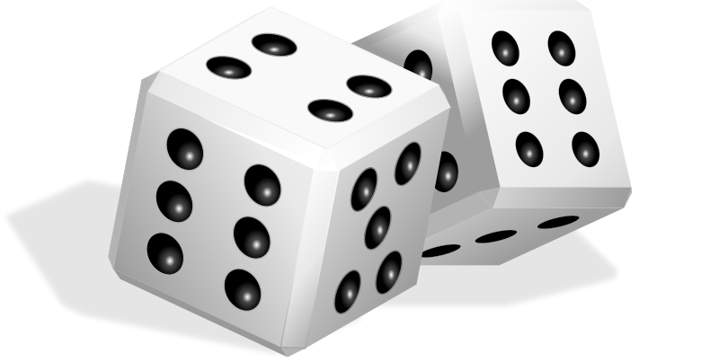 vector transparent stock Dice Free Clipart