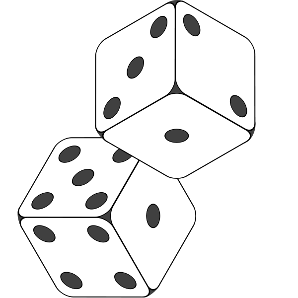 transparent drawing money dice #112009464
