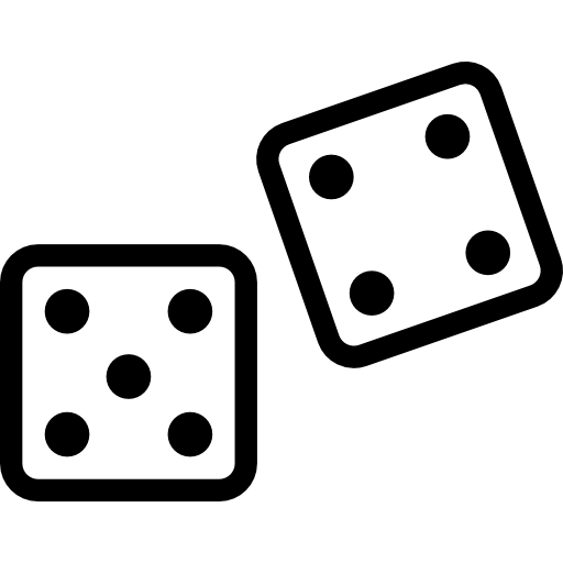clip art black and white dice svg flat #111359822