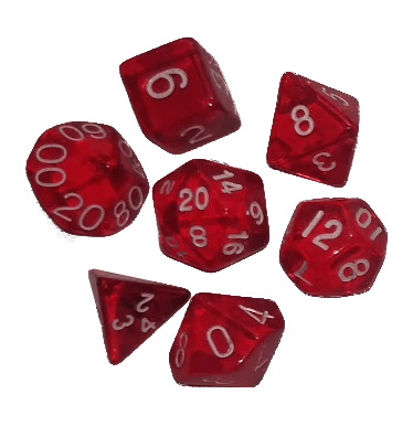 jpg freeuse download Red polyhedral set fate. Transparent dice