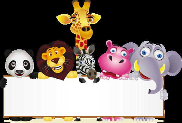 free download Clipart zoo animals. Labels scraps png border.
