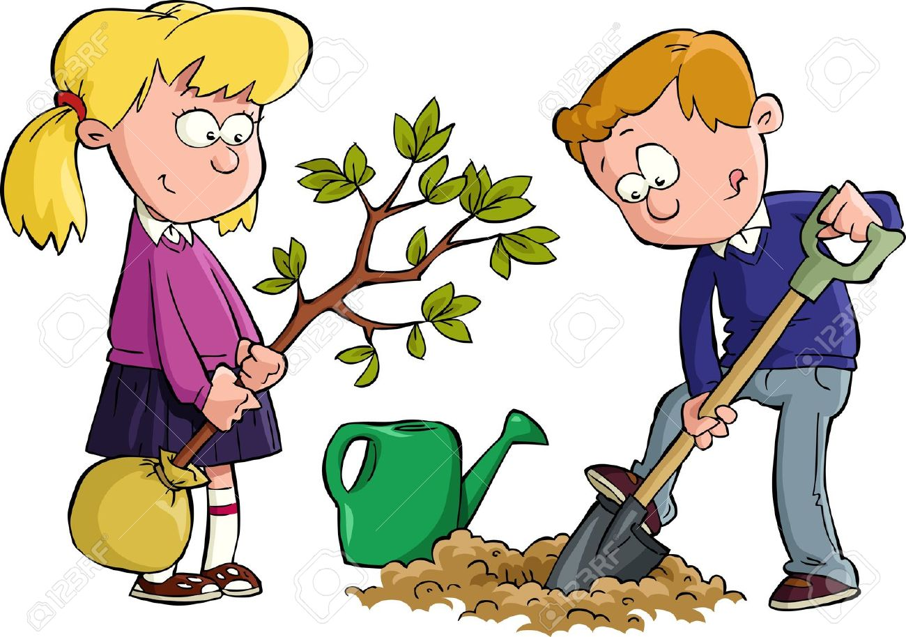 transparent library Free girl digging cliparts. Dig clipart.