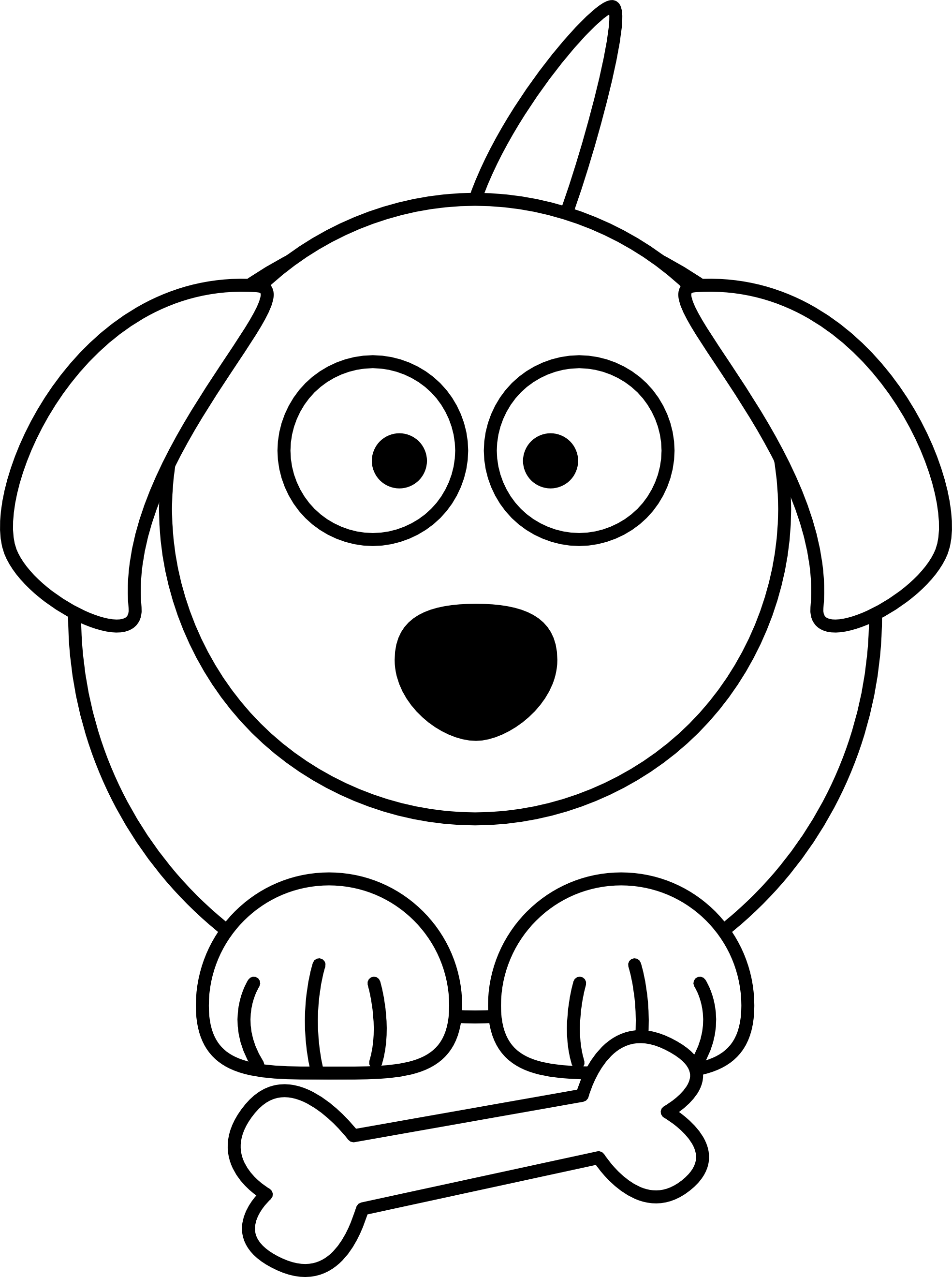 vector royalty free library Dog cartoon library. Clipart monkey black and white