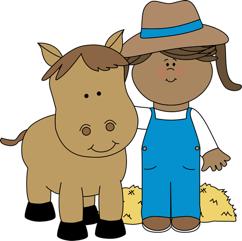 jpg freeuse Farm girl with a. Helper clipart farmer.