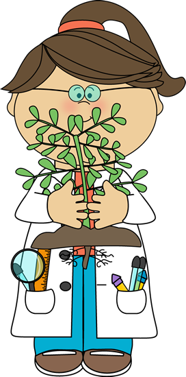 jpg library stock Scientist with a Plant