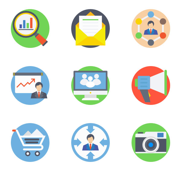graphic freeuse library Icons free marketing. Digital vector.
