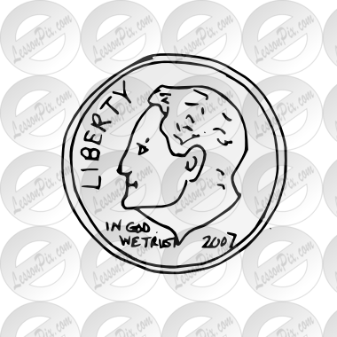 clipart free stock Homey design image clip. Dime clipart