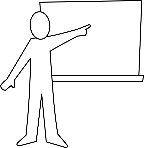 graphic transparent stock Teacher black and white. Teaching clipart images