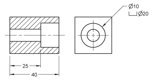 clip library stock Dimensioning and locating advanced. Drawing dimensions hole