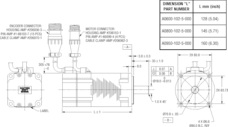 clipart black and white download  mm servomotor dimensional. Tops drawing