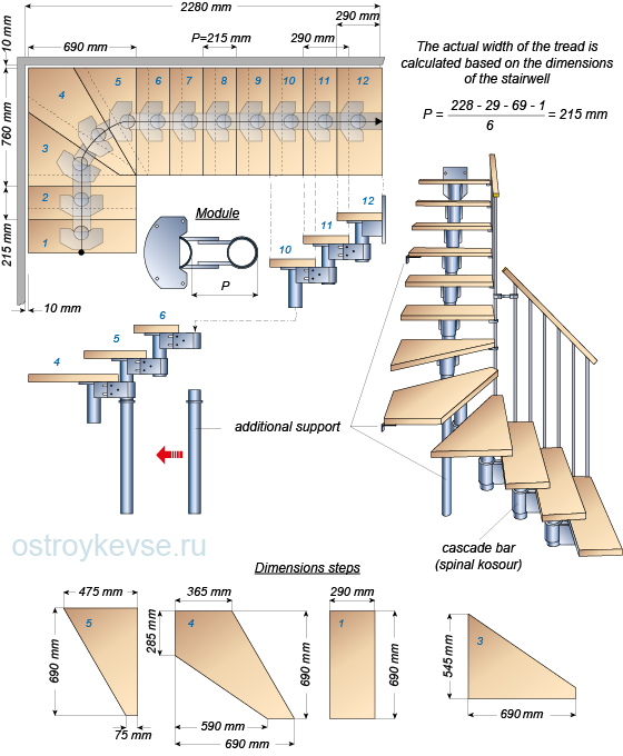 svg black and white stock Stairs to the cascade beam