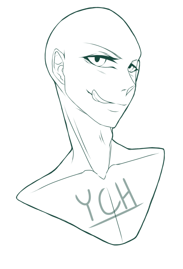 clip art library library Drawing neck poses. Bust male ych closed