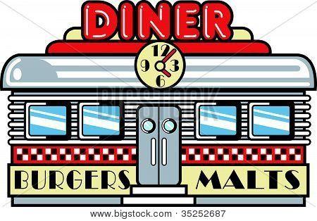 banner stock Diner clipart. Retro clip art harmony