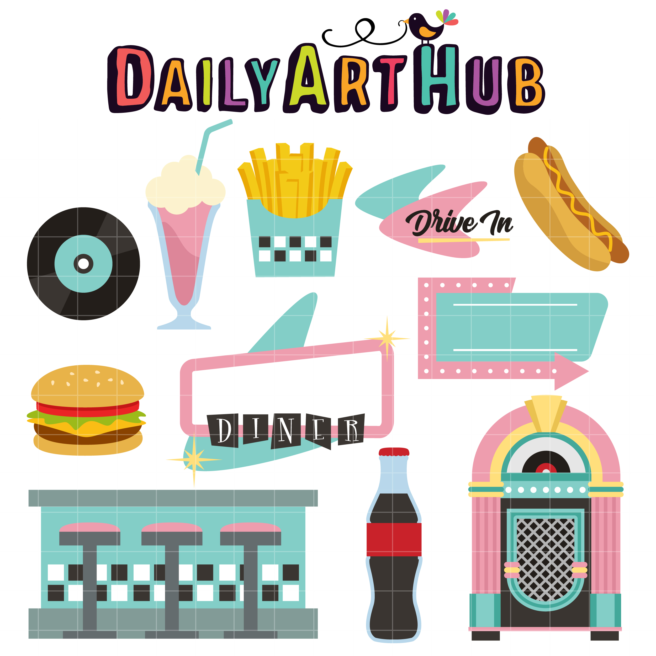 clipart royalty free library  s clip art. Diner clipart