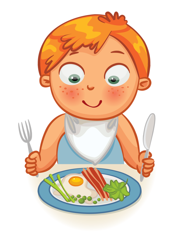 clip art black and white Clip art kid dinner. Kids eating breakfast clipart
