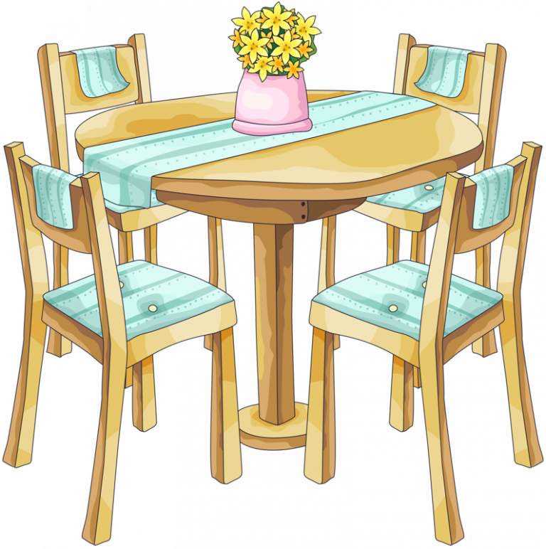 svg freeuse Clipart Dining Table bg