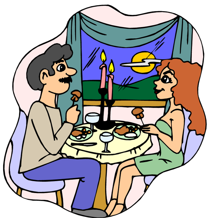 jpg freeuse library Eating Dinner Out Clipart