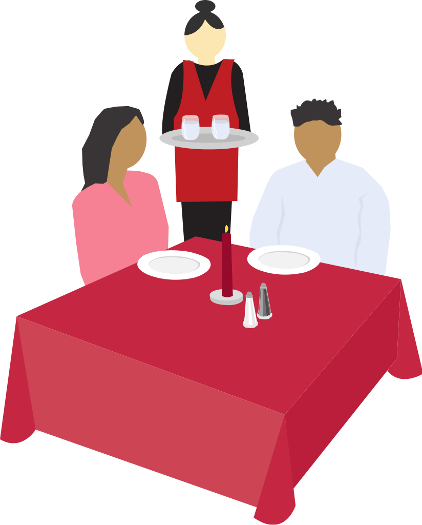 freeuse download File couple dining clip. Restaurants clipart.