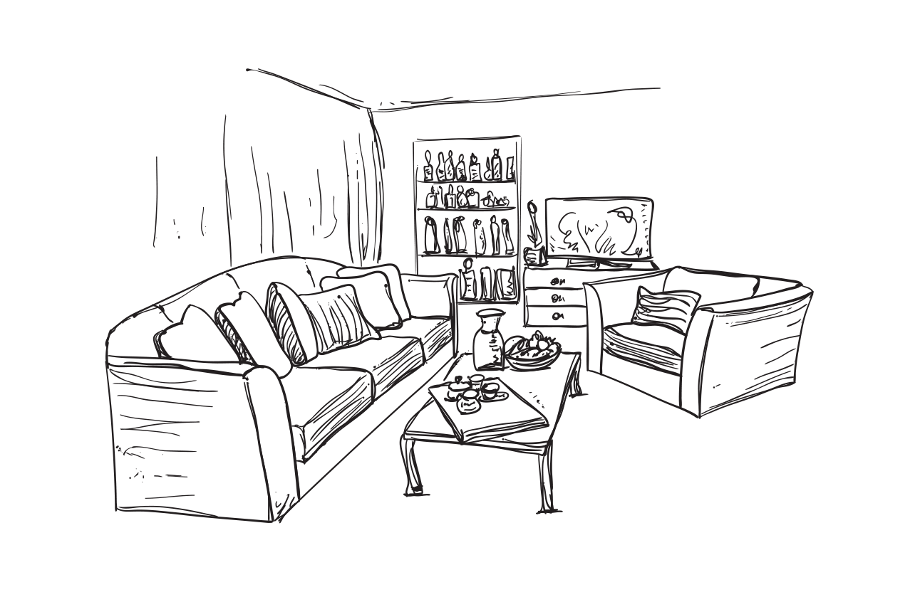 image freeuse stock Outstanding Drawings Of Living Rooms Crest