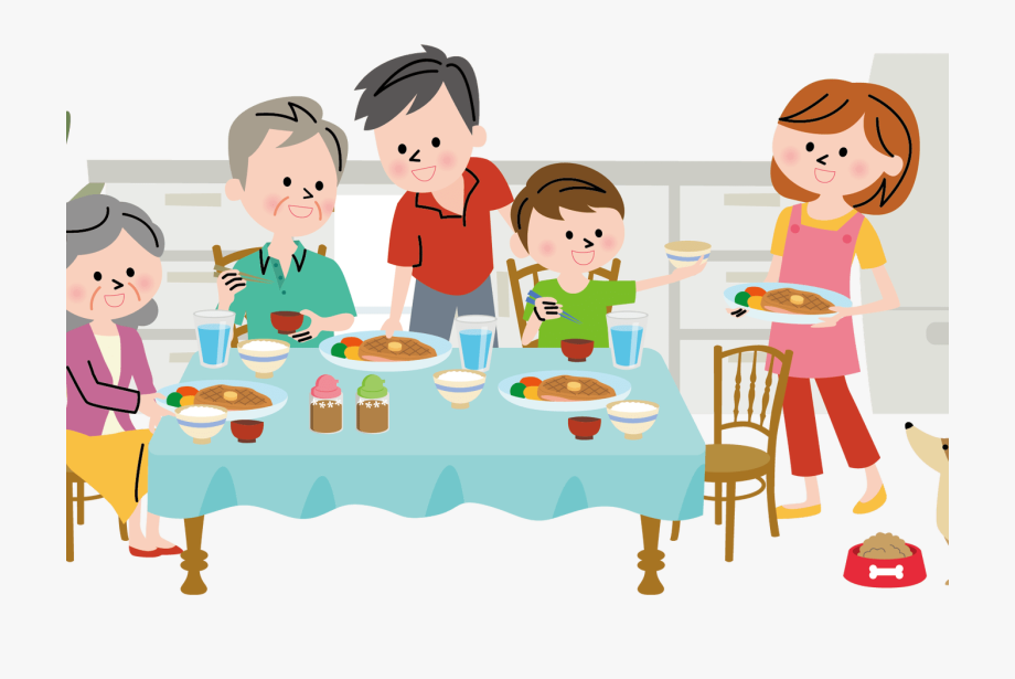 royalty free library Diner family communication graphics. Dinner clipart