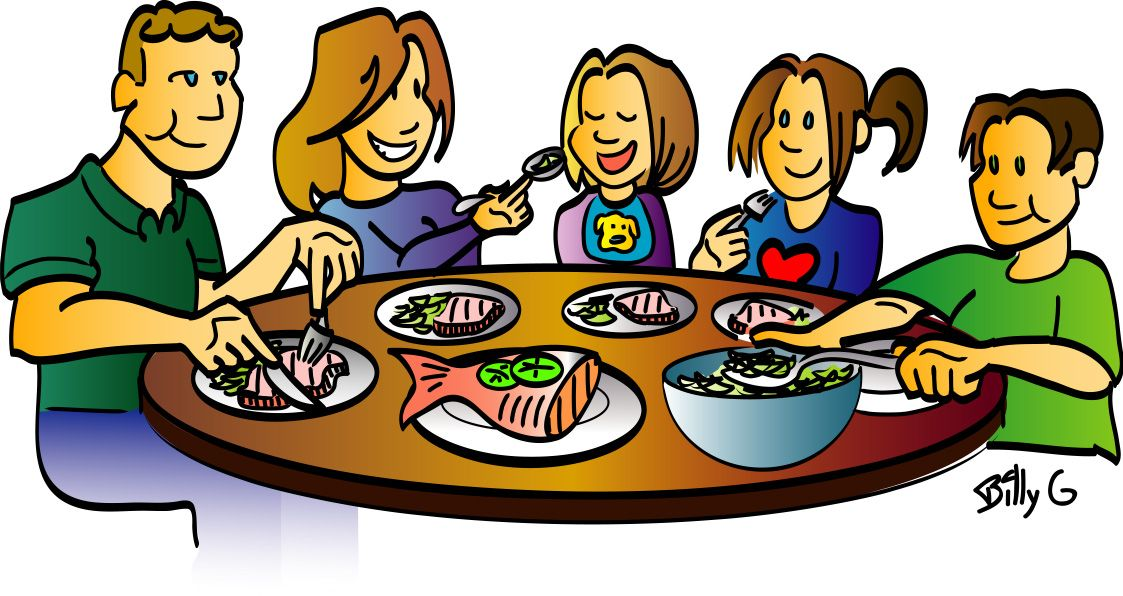 picture Dinner clipart. Family panda free images