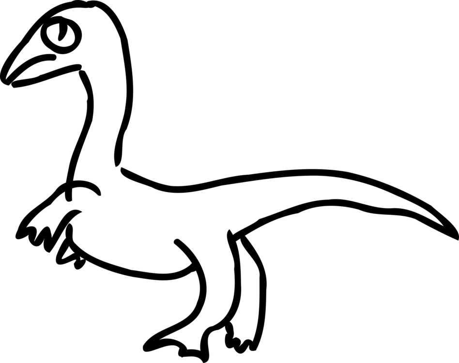 clip art black and white download Velociraptor Drawing Dinosaur Duck Diagram free commercial clipart