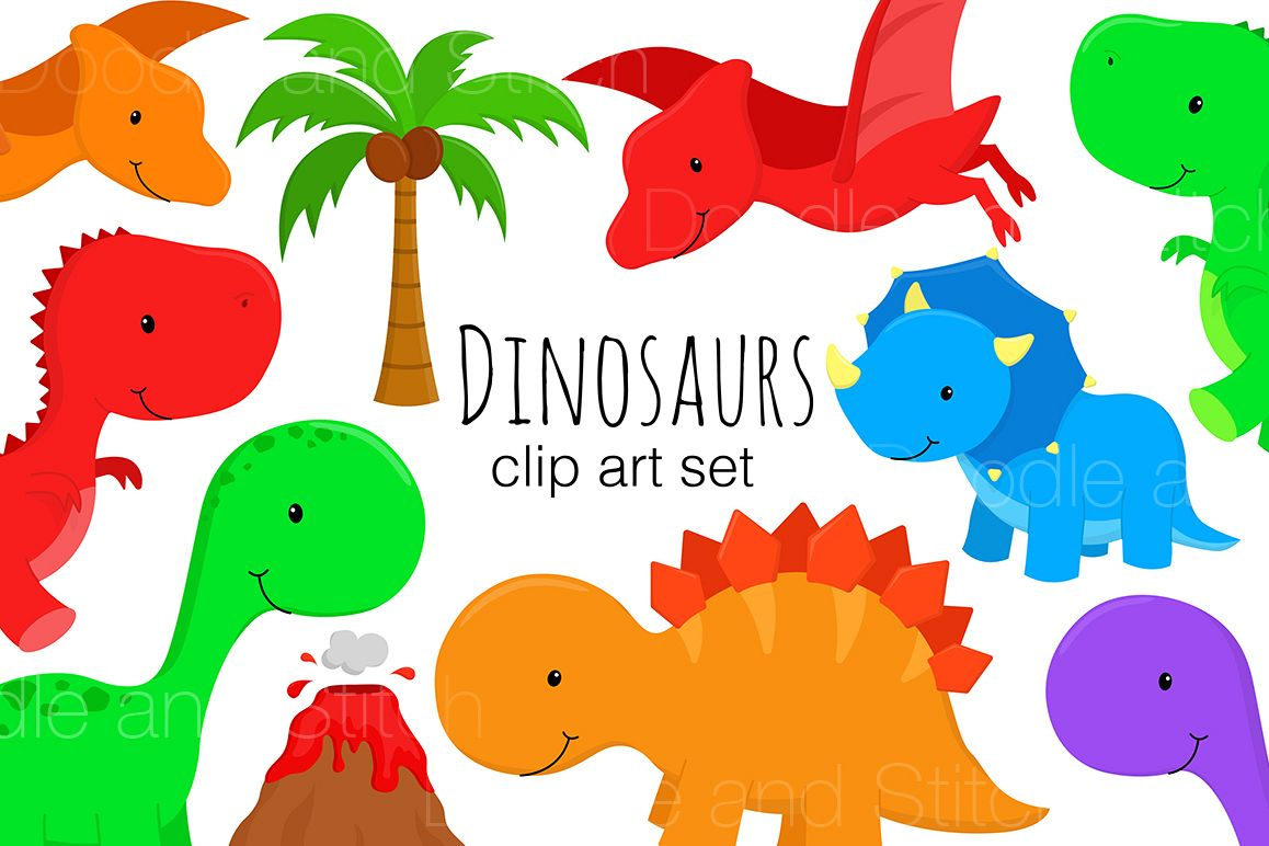 svg freeuse library Dinosaur illustrations . Dinosaurs clipart