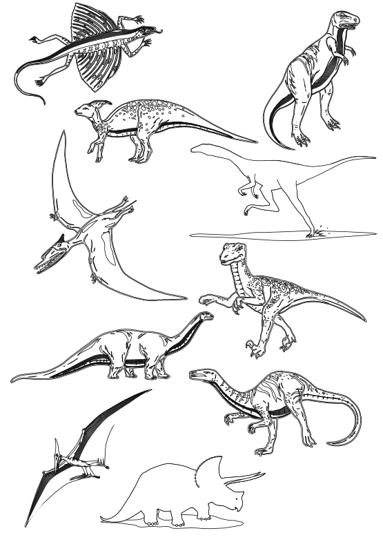 clipart free library Dinosaur clipart black and white. Clipartist net clip art