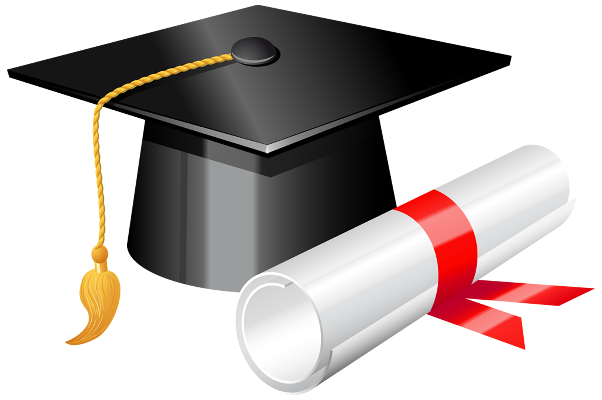 vector royalty free Diploma clipart. Graduation cap with png.