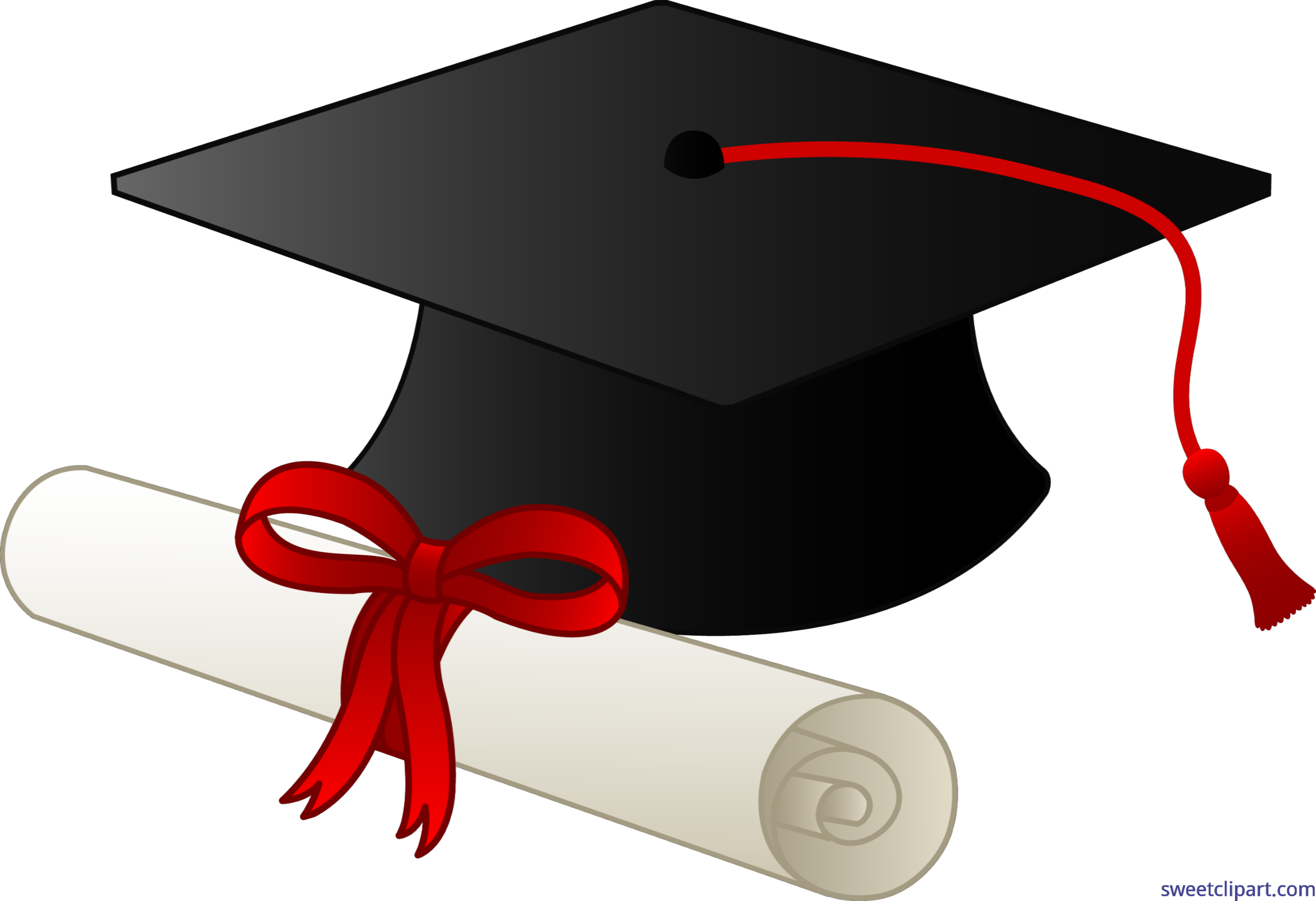 graphic royalty free download Graduation cap and clip. Diploma clipart.