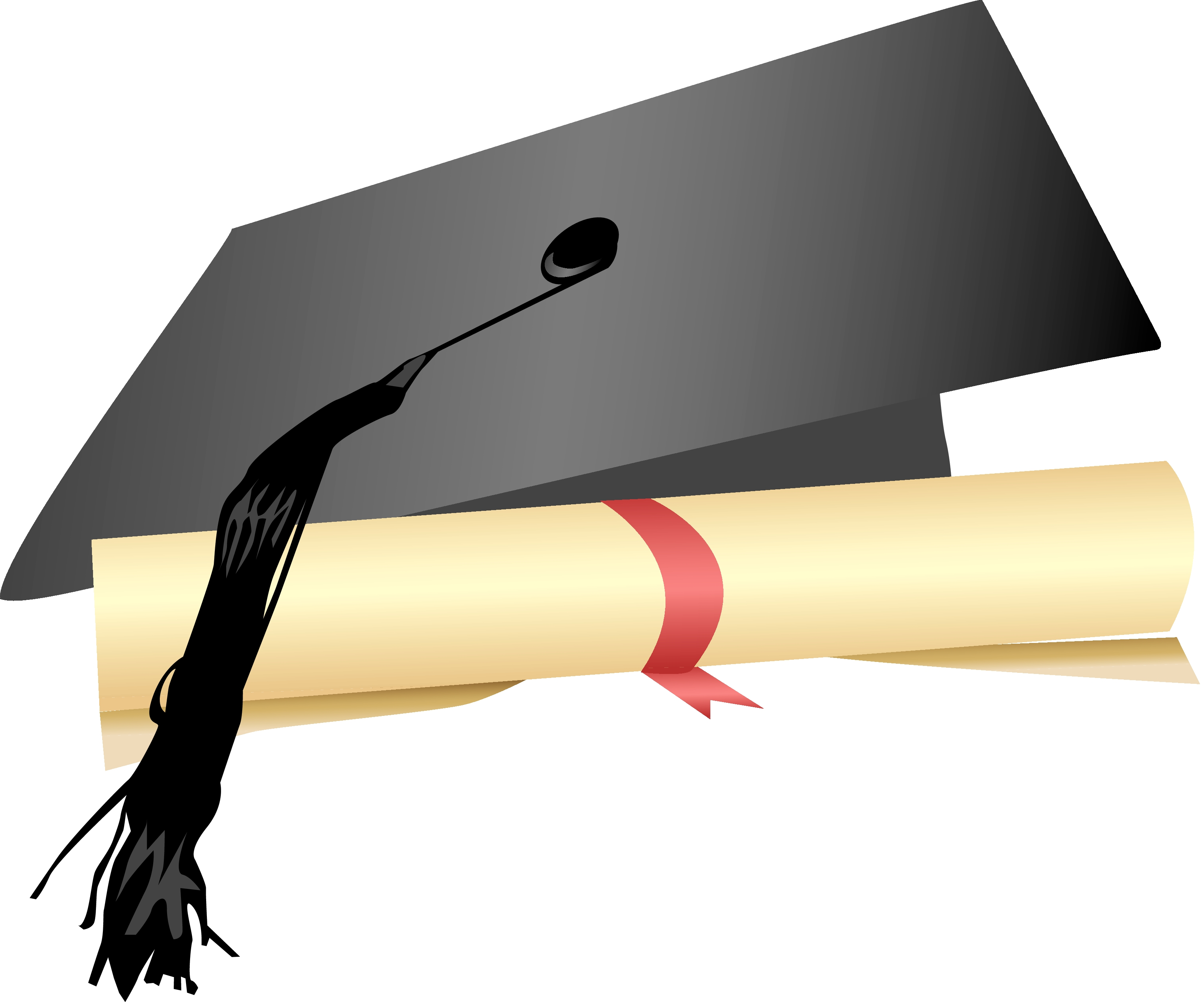 graphic royalty free library Free and download clip. Diploma transparent cap gown