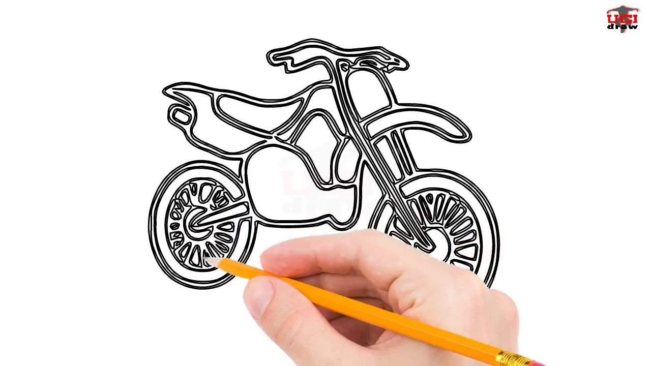 banner free stock How to draw a. Dirtbike drawing